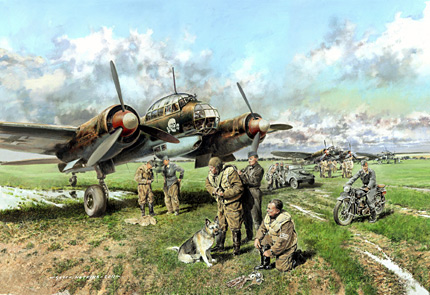 Totenkopf Schnellbombers - new painting by Geoff Nutkins